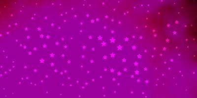 dunkelrosa Vektorlayout mit hellen Sternen.
