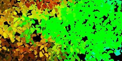 mörk flerfärgad vektorstruktur med memphis-former.