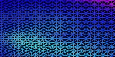 hellrosa, blauer Vektordreieckmosaikhintergrund.