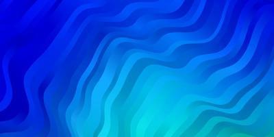 ljusblått, grönt vektormönster med böjda linjer.