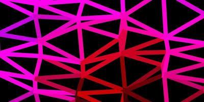 dunkelrosa Vektordreieck-Mosaikentwurf.