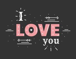 Ich liebe dich Vektor