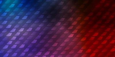 hellblaues, rotes Vektormuster im quadratischen Stil. vektor