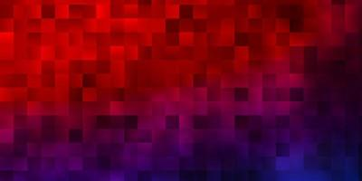 hellblaues, rotes Vektormuster im quadratischen Stil.