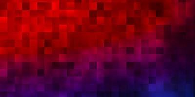 ljusblått, rött vektormönster i fyrkantig stil.
