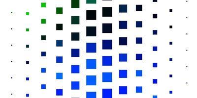 hellblauer, grüner Vektorhintergrund mit Rechtecken.
