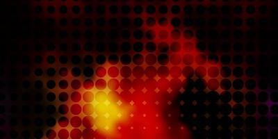 mörk flerfärgad vektorlayout med cirkelformer. vektor