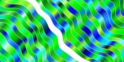 ljusblått, grönt vektormönster med sneda linjer.