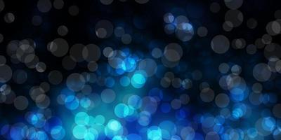mörkblå vektorbakgrund med bubblor. vektor