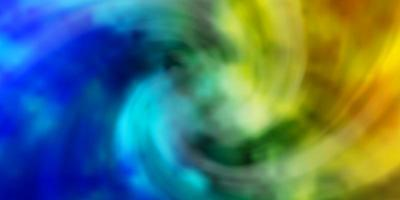 ljusblå, grön vektorlayout med molnlandskap.