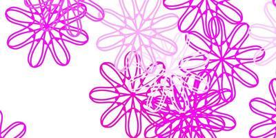 ljusrosa vektor naturliga konstverk med blommor.