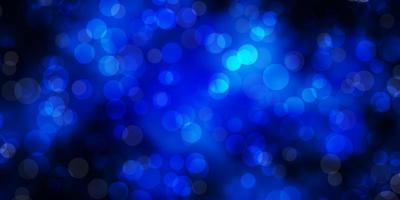 mörkblå vektor bakgrund med prickar.