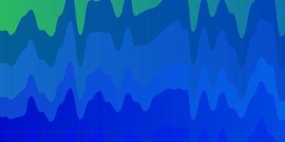 hellblaues, grünes Vektorlayout mit schiefen Linien. vektor