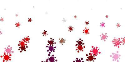 ljusrosa, röd vektorstruktur med sjukdomssymboler