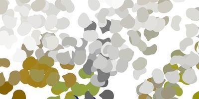 hellgraue Vektorschablone mit abstrakten Formen.