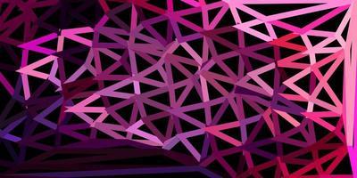 dunkelviolette, rosa Vektor-Poly-Dreieck-Textur. vektor