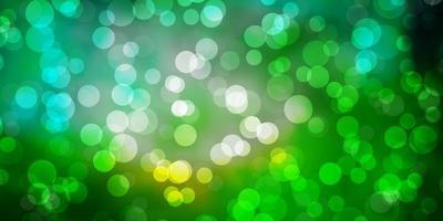 ljusblå, grön vektormall med cirklar. vektor