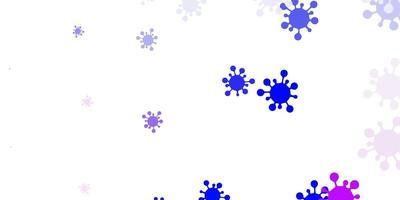 hellrosa, blaue Vektorbeschaffenheit mit Krankheitssymbolen