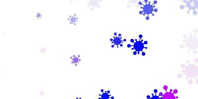 ljusrosa, blå vektorstruktur med sjukdomssymboler