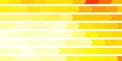 ljus orange vektor layout med linjer.