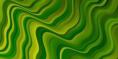 hellgrüne, gelbe Vektorbeschaffenheit mit Kreisbogen. vektor