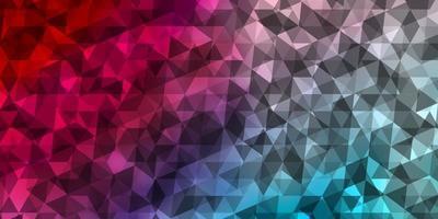 hellblaues, rotes Vektormuster mit polygonalem Stil.