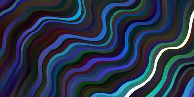 mörk flerfärgad vektorbakgrund med böjda linjer.