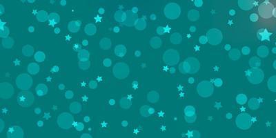 hellblaues Vektorlayout mit Kreisen, Sternen. vektor