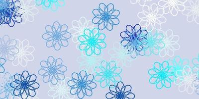 hellblauer Vektor natürlicher Hintergrund mit Blumen.