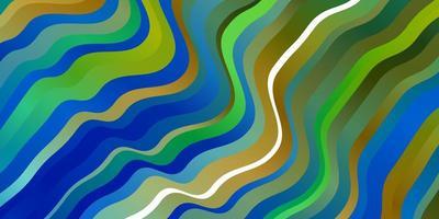 ljusblå, grön vektorlayout med kurvor. vektor