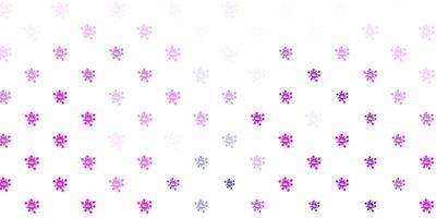 ljusrosa, blå vektor bakgrund med virussymboler.