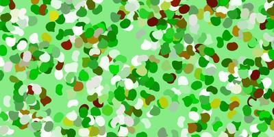hellgrüner Vektorhintergrund mit chaotischen Formen.