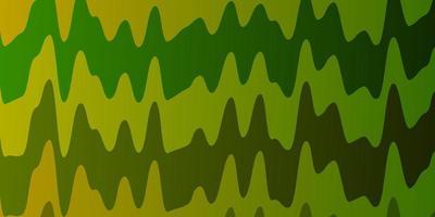 dunkler mehrfarbiger Vektorhintergrund mit gebogenen Linien.