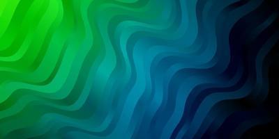 ljusblått, grönt vektormönster med linjer.