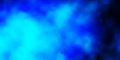 dunkelblauer Vektorhintergrund mit Cumulus. vektor