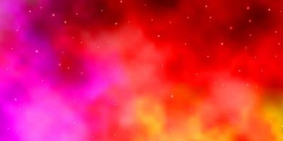 hellrosa, gelbes Vektormuster mit abstrakten Sternen. vektor