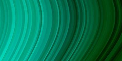 ljusgrönt vektormönster med kurvor.
