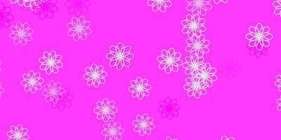 hellrosa Vektor natürliche Grafik mit Blumen.