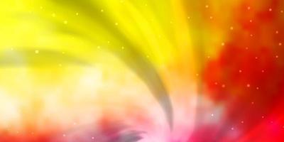 ljusrosa, gult vektormönster med abstrakta stjärnor. vektor