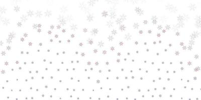 ljusrosa vektor abstrakt bakgrund med blad.