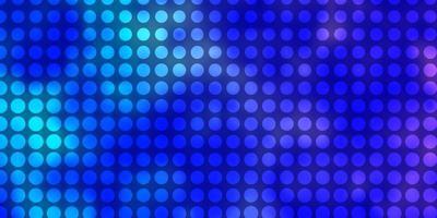 hellrosa, blaues Vektorlayout mit Kreisen.