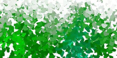 hellgrüner Vektorhintergrund mit chaotischen Formen vektor
