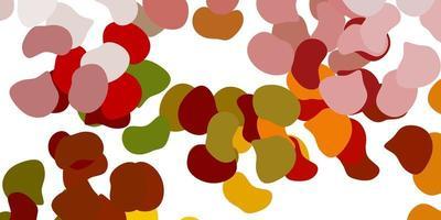hellgrünes, gelbes Vektormuster mit abstrakten Formen vektor