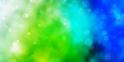 hellblaue, grüne Vektortextur mit Kreisen.