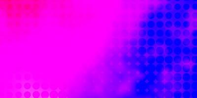 ljusrosa, blå vektorbakgrund med fläckar.