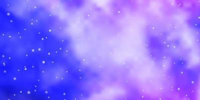 hellrosa, blaues Vektorlayout mit hellen Sternen.