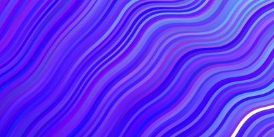 ljusrosa, blå vektorbakgrund med kurvor.