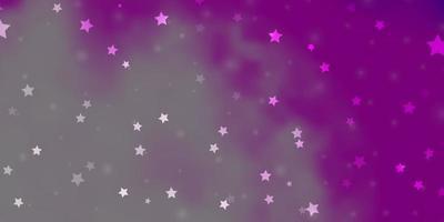 hellrosa Vektorhintergrund mit bunten Sternen.