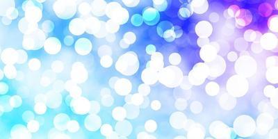 hellrosa, blauer Vektorhintergrund mit Flecken.