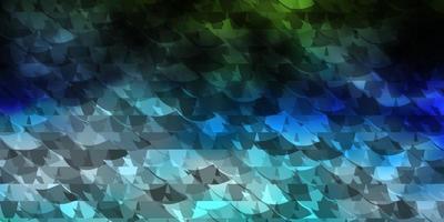 hellblauer, grüner Vektorhintergrund mit Dreiecken.